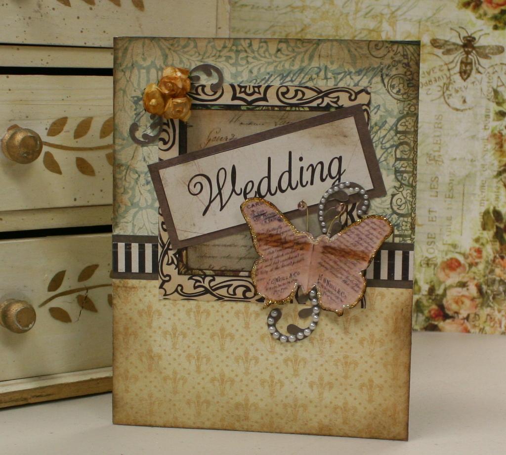 Vintage Wedding Card Polly S Paper Studio