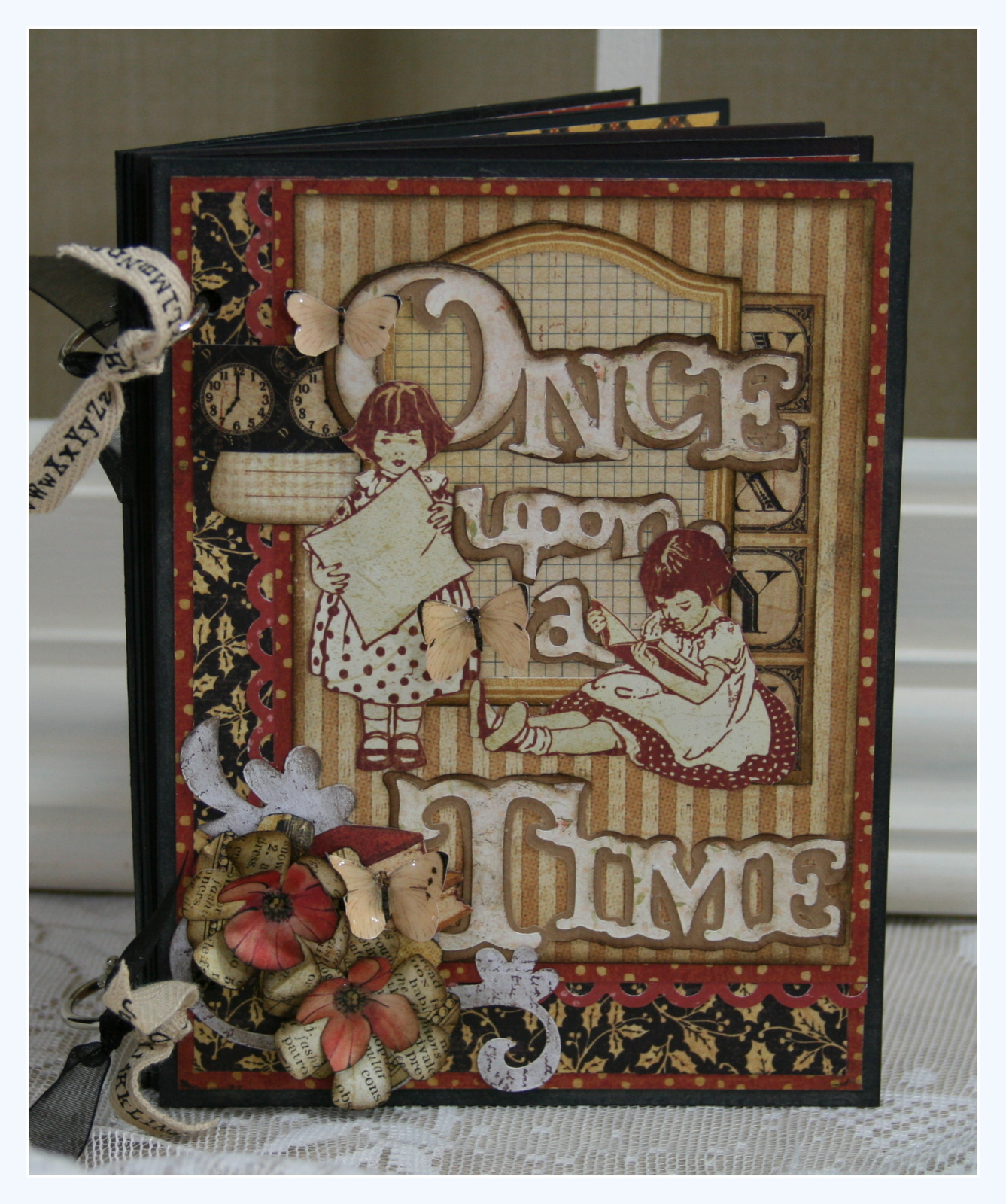 Scrapbook ideas abc album - This Sweet Little Mini Album Is Actually A Calendar Created With Abc Primer The Sweet Little Butterflies Are Graphic Fairy