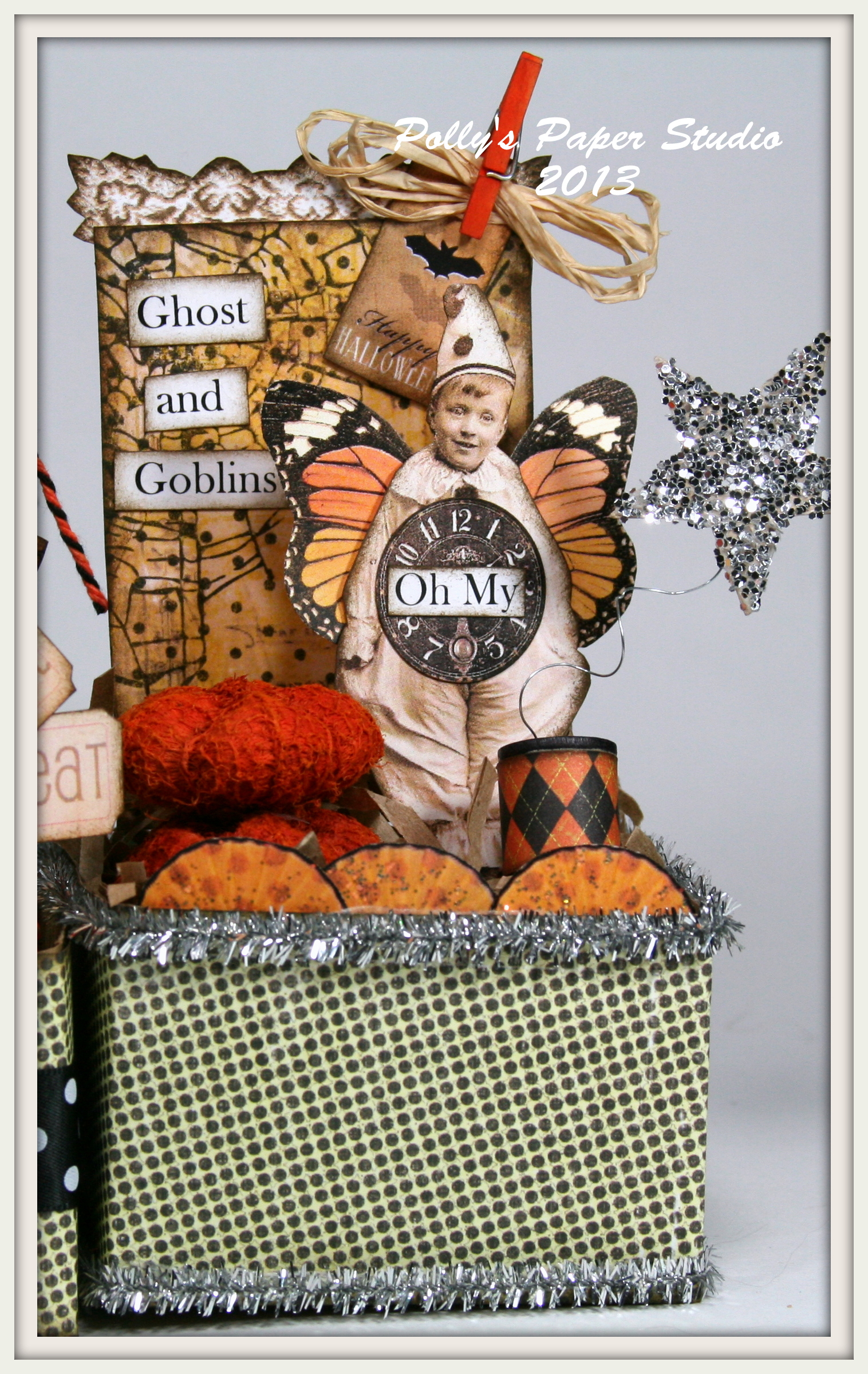 Halloween Altered Art Boxes | Polly's Paper Studio