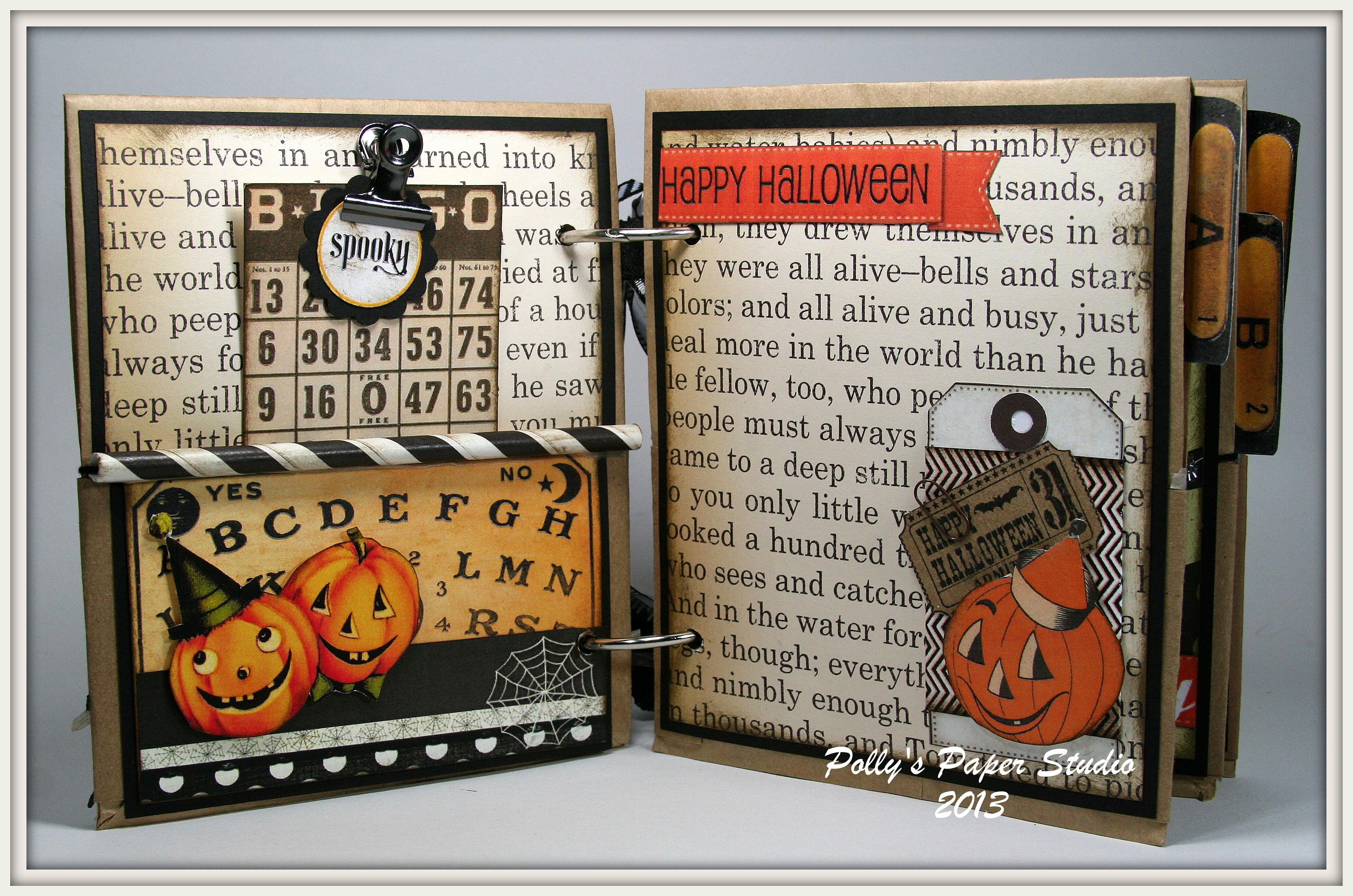 chunky vintage halloween album | polly's paper studio