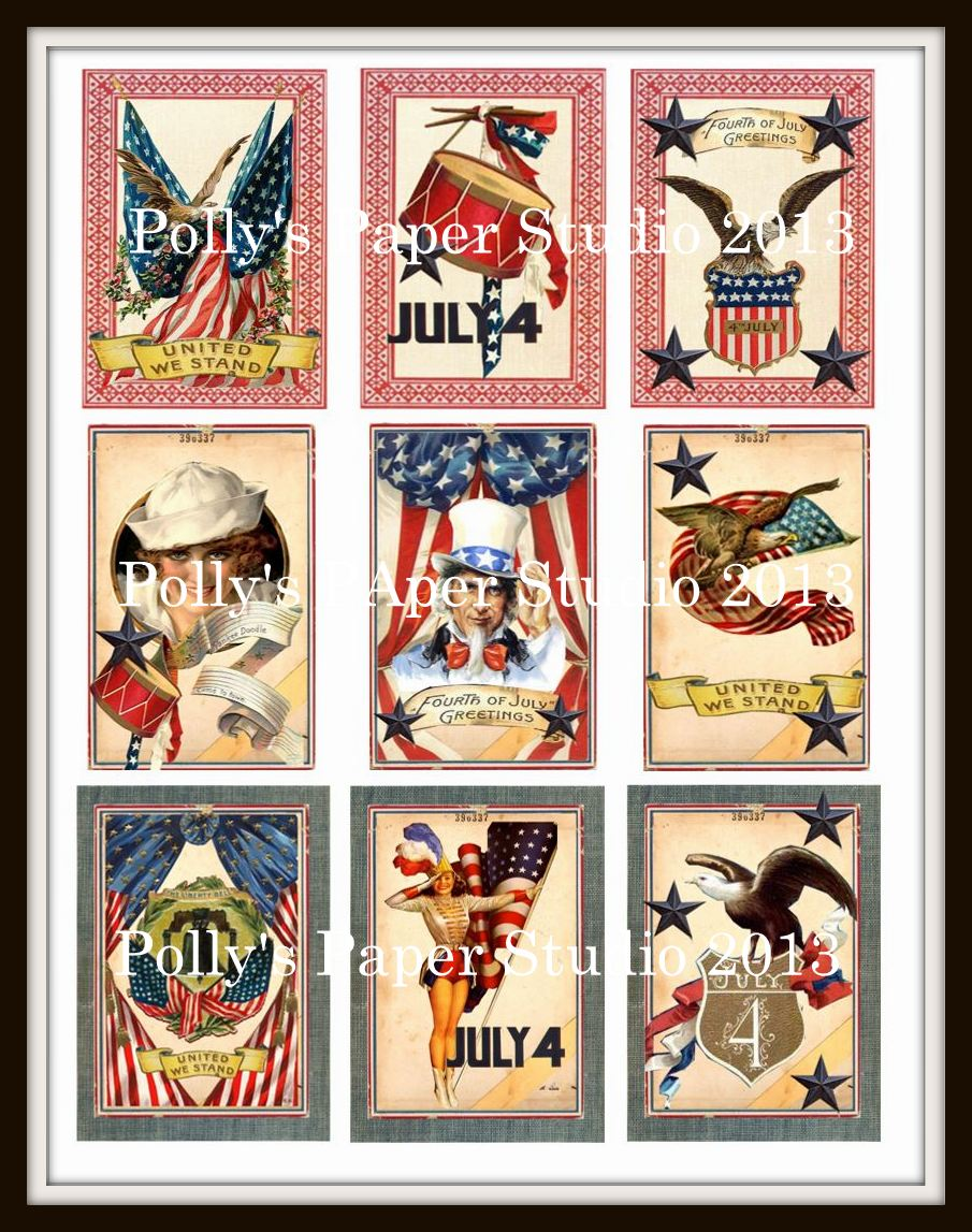 Vintage Americana Background Vintage americana collageVintage Americana Background