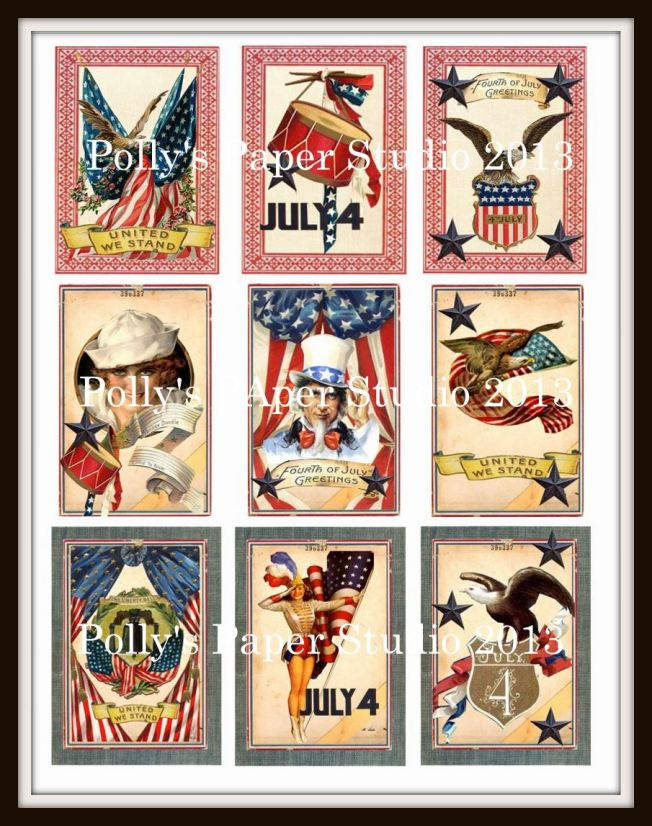 vintage americana collage sheet
