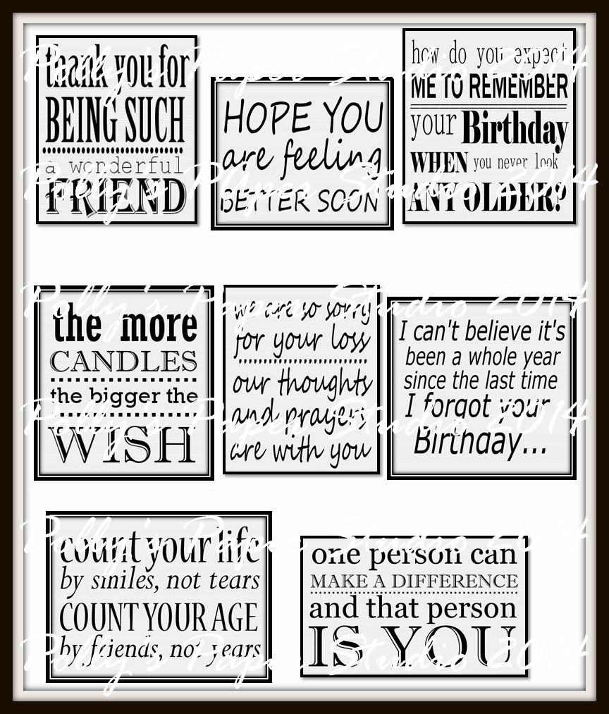 Happy Birthday Card With Typography And Subway Sentiments