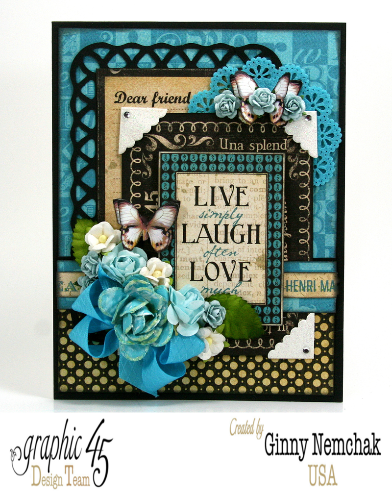 live love laugh card with typography from graphic 45 polly s paper studio