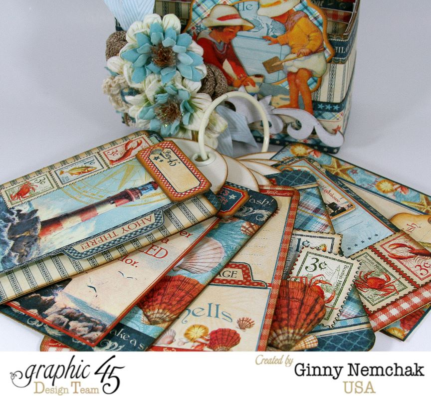 By The Sea Tag Album For Graphic 45 Polly S Paper Studio