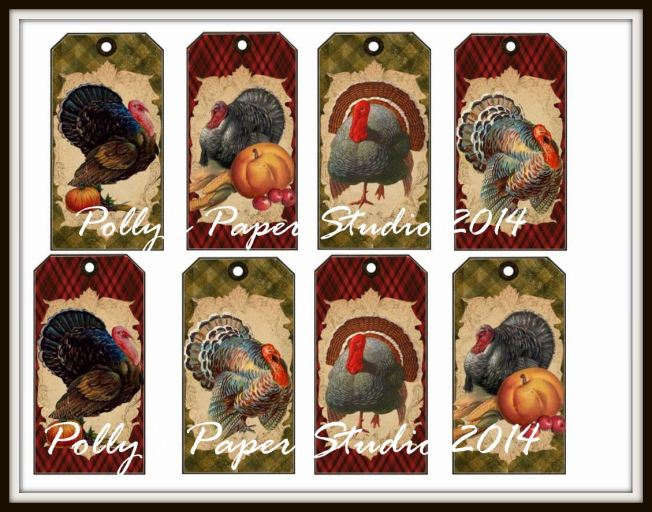 Let's Talk Turkey Tags Collage Sheet