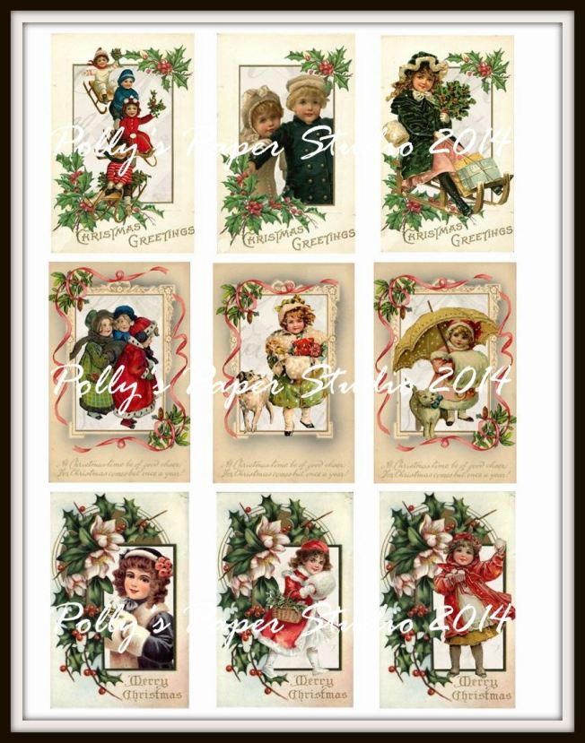 Vintage Children Christmas Postcards