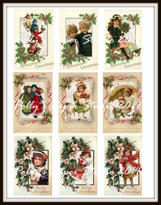 Vintage Children Christmas Postcards