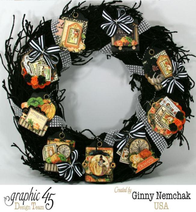 Halloween ATC Tag Wreath 1