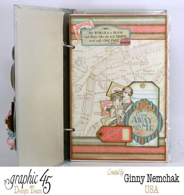 Come Away With Me Travel Journal With Graphic 45 Polly S