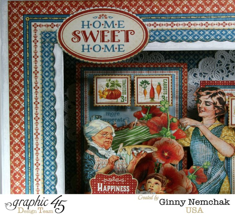 Matchbook Box with Graphic 45 Home Sweet Home