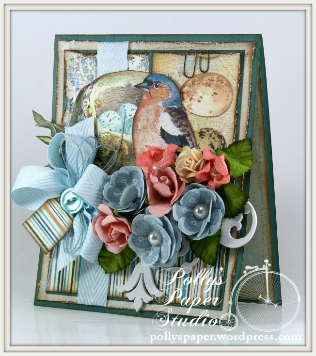 Crafty Secrets Vintage Bird on Blue
