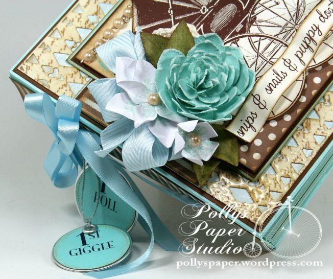 Snips and Snails Little Boy Album Spellbinders Canvas Corp Blog Hop 11