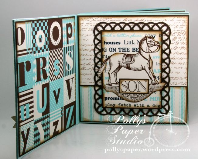Snips and Snails Little Boy Album Spellbinders Canvas Corp Blog Hop 4
