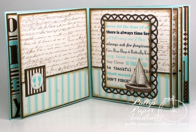 Snips and Snails Little Boy Album Spellbinders Canvas Corp Blog Hop 5