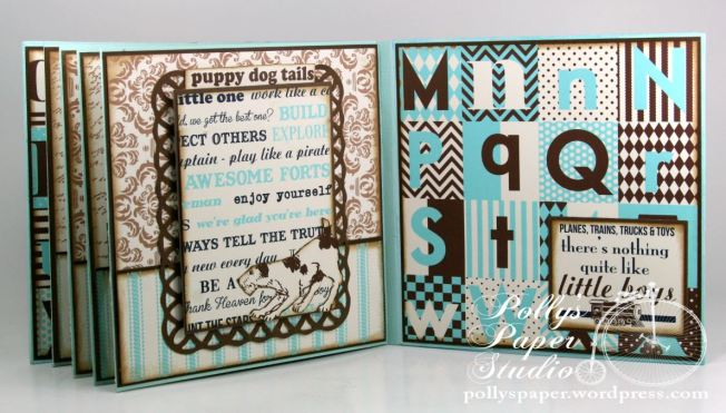 Snips and Snails Little Boy Album Spellbinders Canvas Corp Blog Hop 6