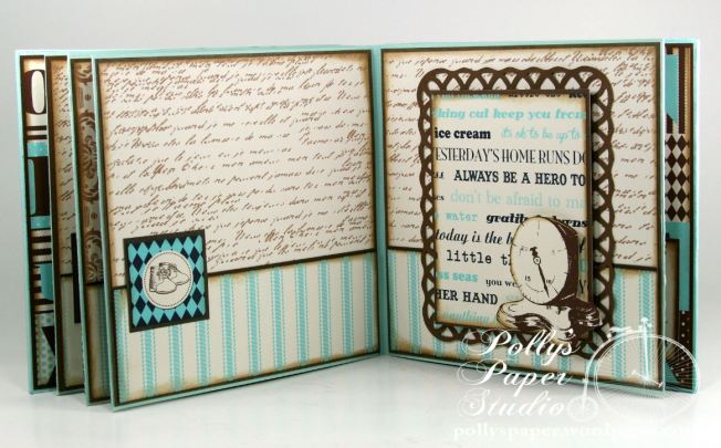 Snips and Snails Little Boy Album Spellbinders Canvas Corp Blog Hop 7