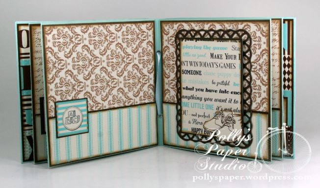 Snips and Snails Little Boy Album Spellbinders Canvas Corp Blog Hop 8