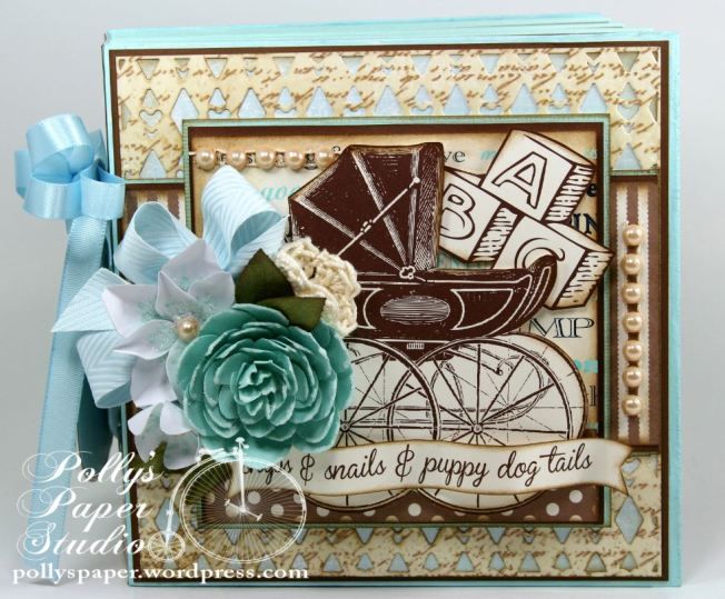 Snips and Snails Little Boy Album Spellbinders Canvas Corp Blog Hop