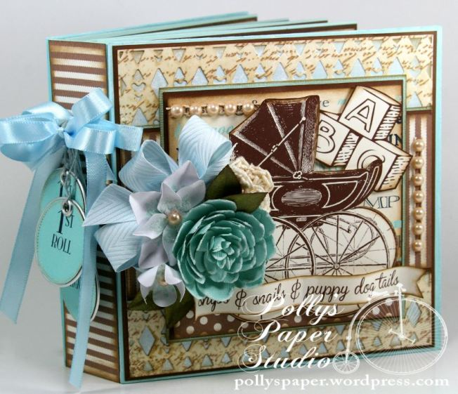 Snips and Snails Little Boy Album Spellbinders Canvas Corp Blog Hop2