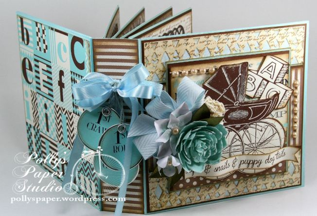 Snips and Snails Little Boy Album Spellbinders Canvas Corp Blog Hop3