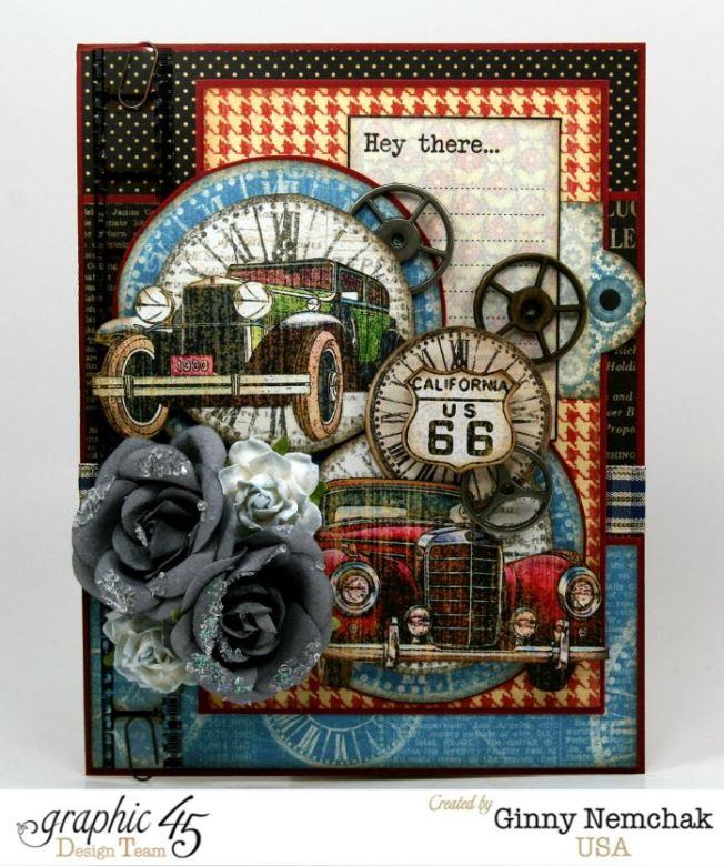 Times Nouveau Vintage Cars Card 1