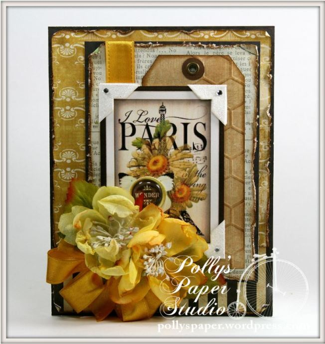 I Love Paris with Daisies Card 1