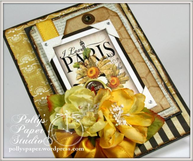 I Love Paris with Daisies Card 3