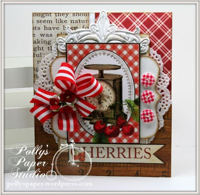 Summer Cherries Card 1