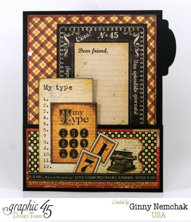typography mixed media planner with graphic 45 polly s paper studio