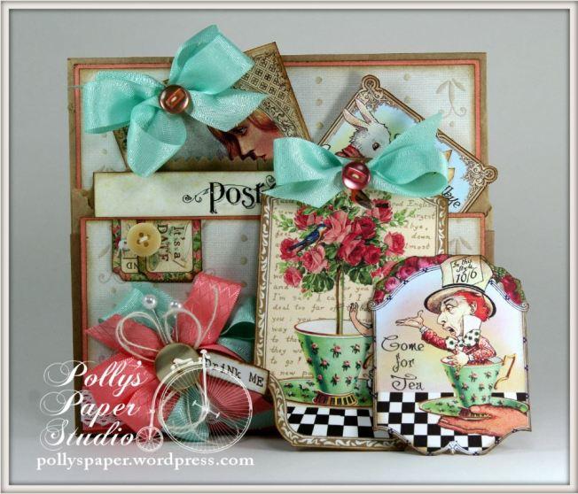 Wonderland Tea Tags & Pocket 6