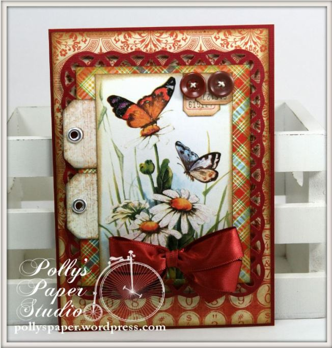 Things With Wings Butterfly and Blooms Card