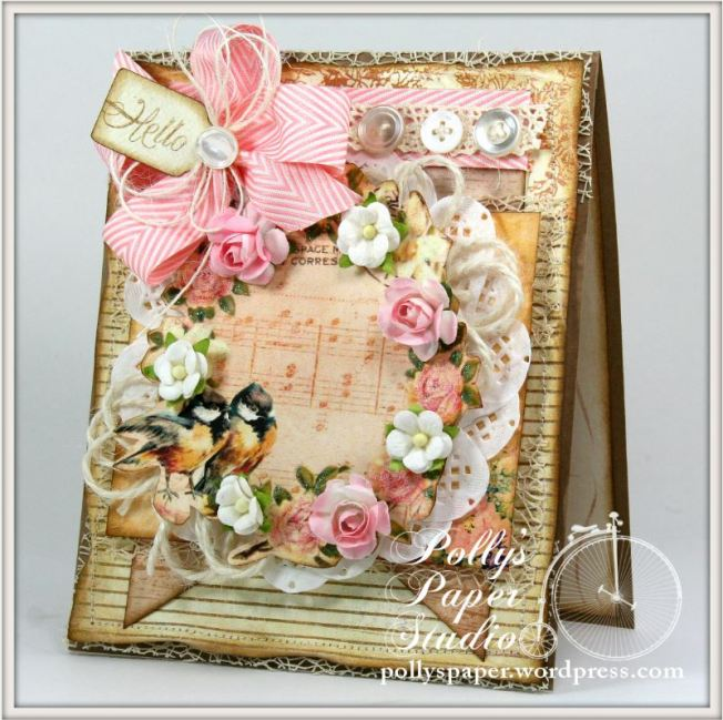 Shabby Birds and Flowers Card 1
