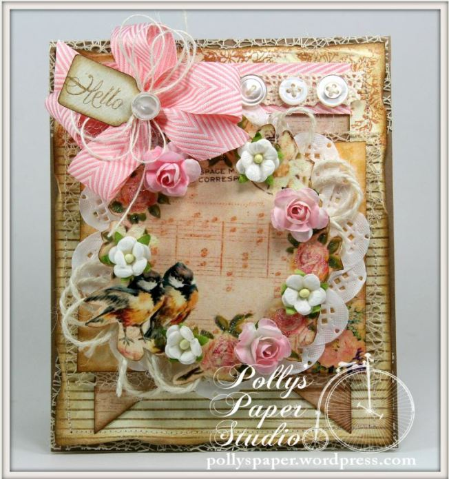 Shabby Birds and Flowers Card 2