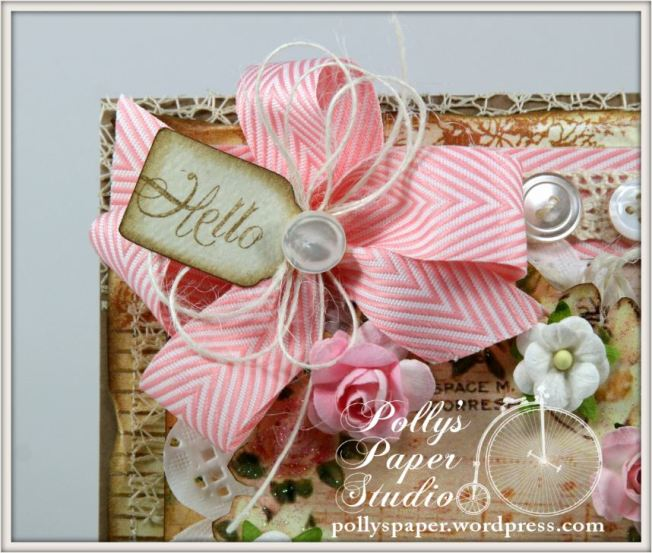 Shabby Birds and Flowers Card 3