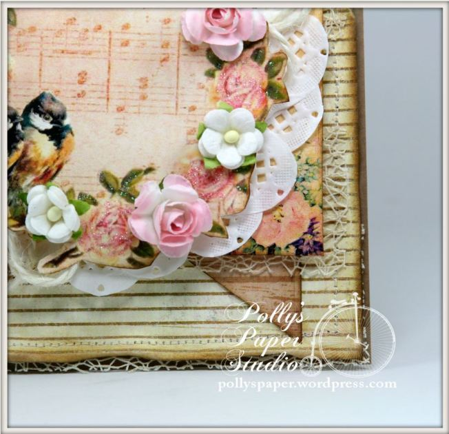 Shabby Birds and Flowers Card 4