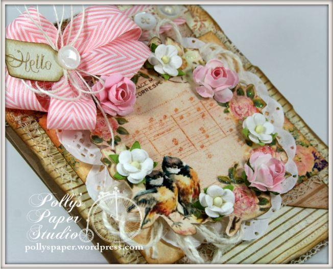 Shabby Birds and Flowers Card 5