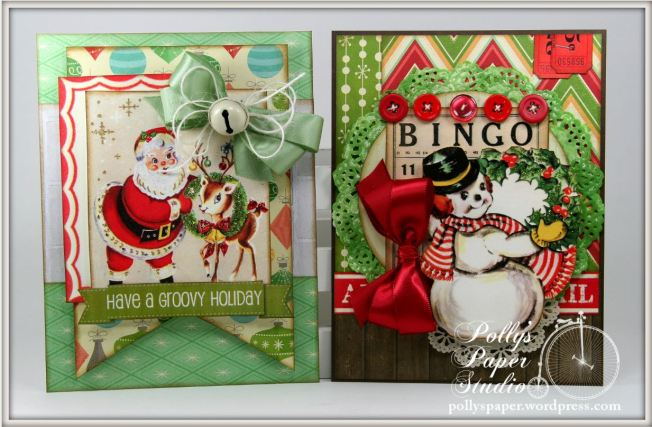 retro christmas creativity kit cards 1