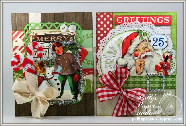 retro christmas creativity kit cards 2