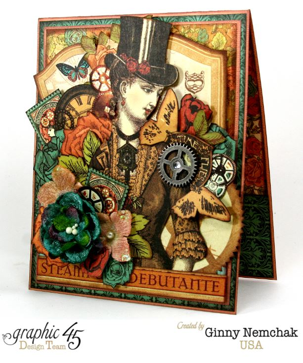 Steampunk Card for Clearsnap Bog Hop 1