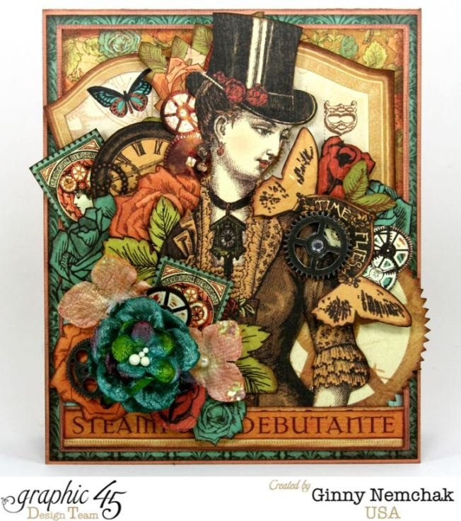 Steampunk Card for Clearsnap Bog Hop 2