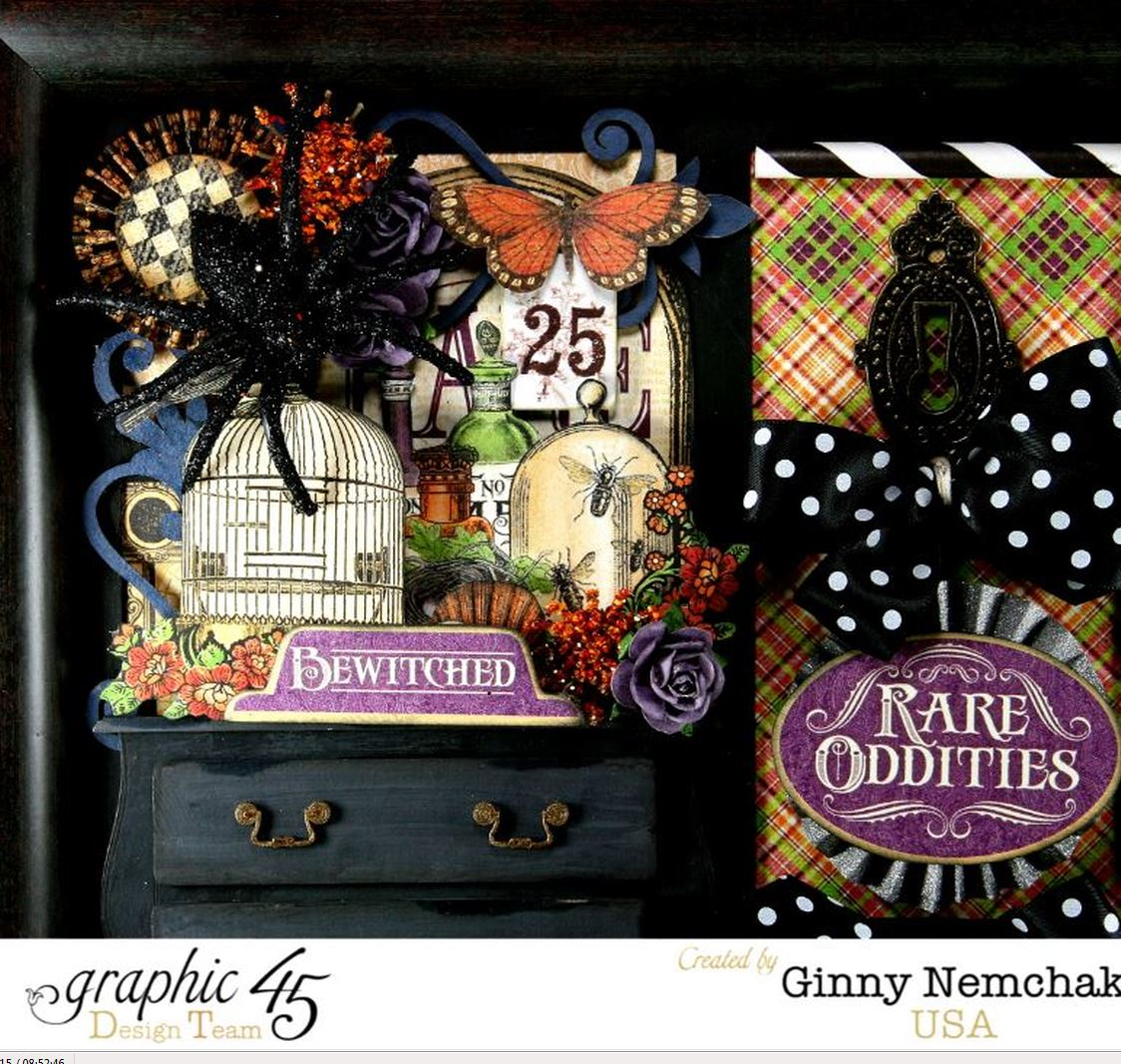 Rare oddities home decor with graphic 45 polly 39 s paper Oddities home decor