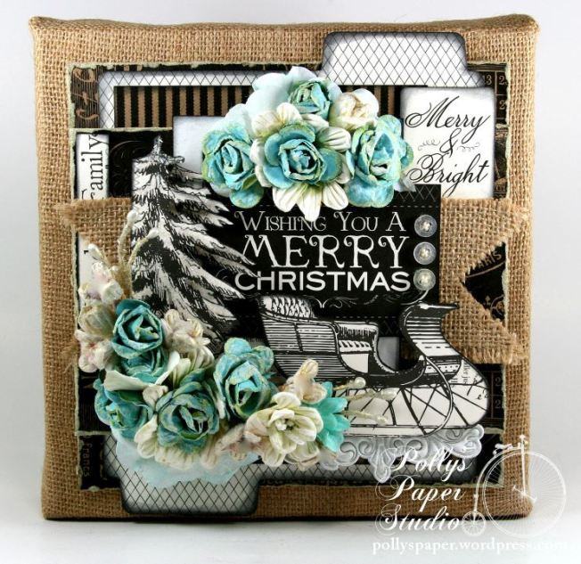 Wishing You a MErry Christmas Altered Frame 1