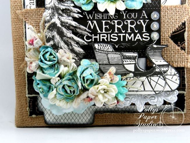 Wishing You a MErry Christmas Altered Frame 3