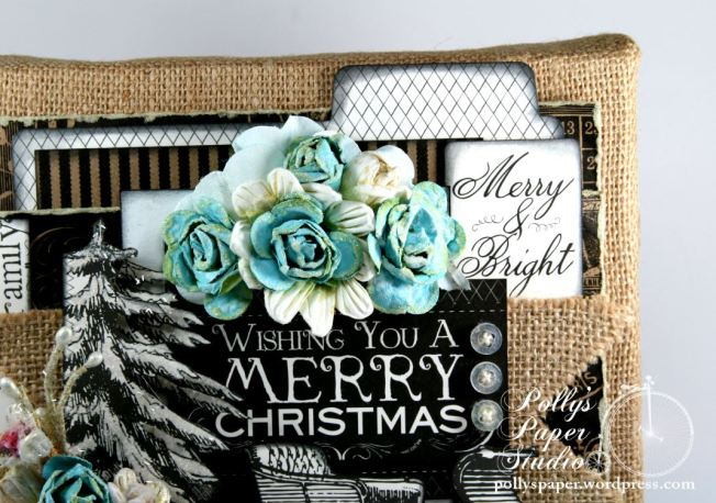 Wishing You a MErry Christmas Altered Frame 4