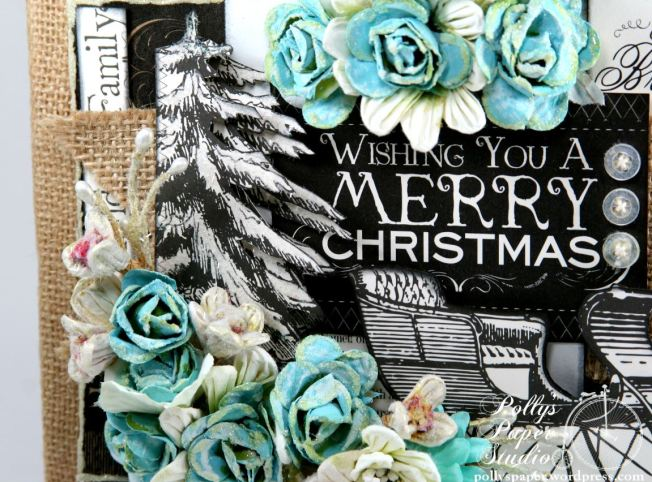 Wishing You a MErry Christmas Altered Frame 5