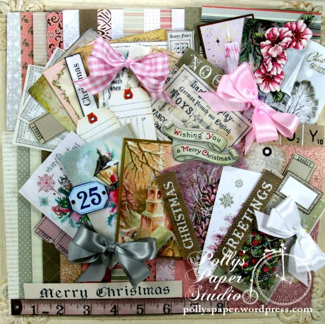 2015 Shabby Pink Christmas Cretivity Kit