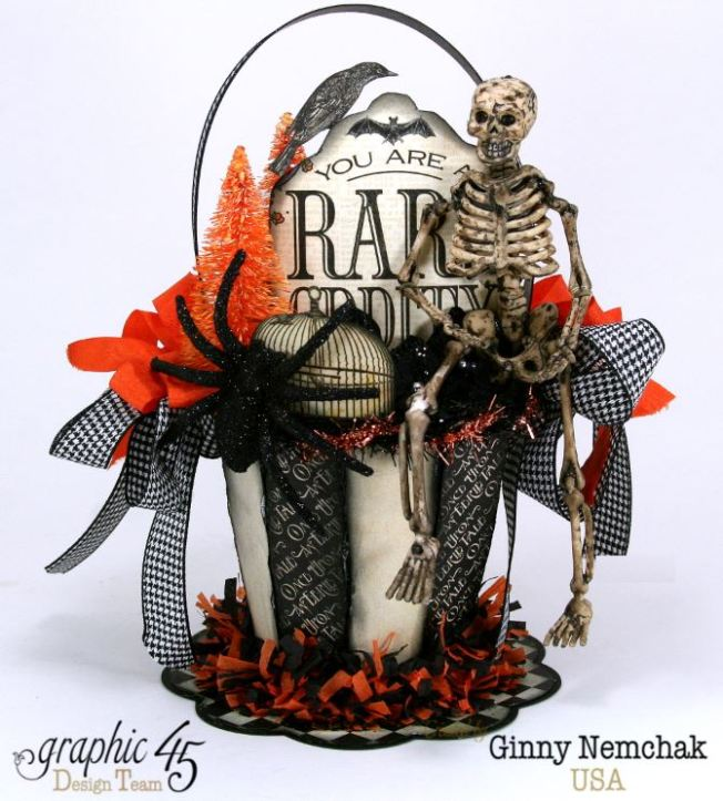 Art-c Vintage Halloween Basket 1