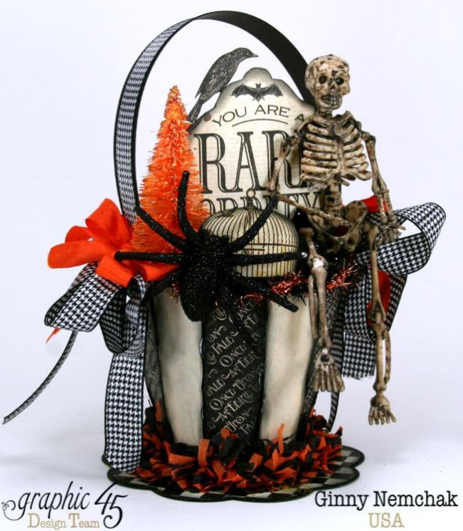 Art-c Vintage Halloween Basket 5