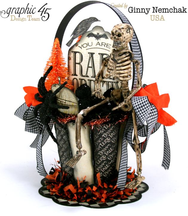 Art-c Vintage Halloween Basket 6